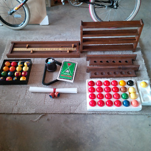 Billiard and Snooker ball sets plus accessories