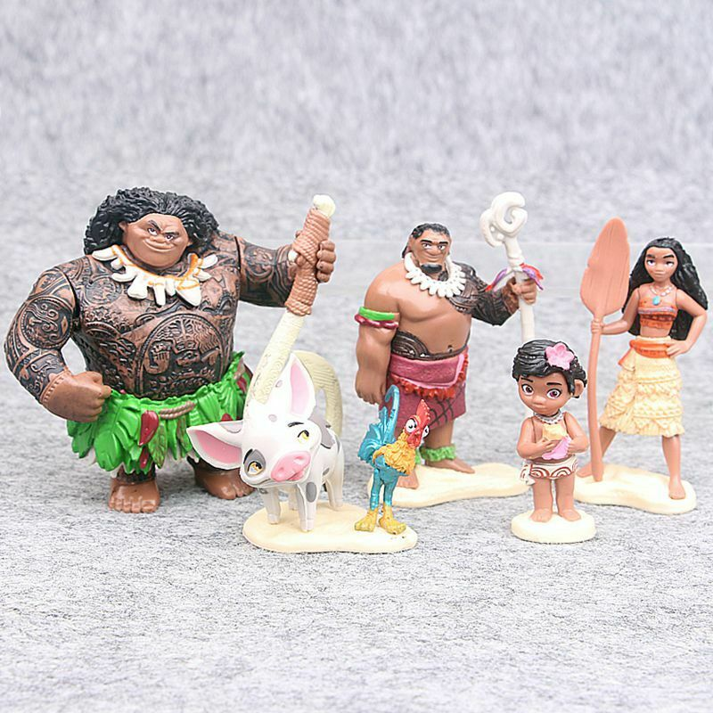 6 Stück Left Sea To Be A Sina Chief Tui Actionfigur Cake Topper Geschenk