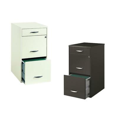 Value Pack Set Of 2 3 Drawer File Cabinet In Charcoal And White