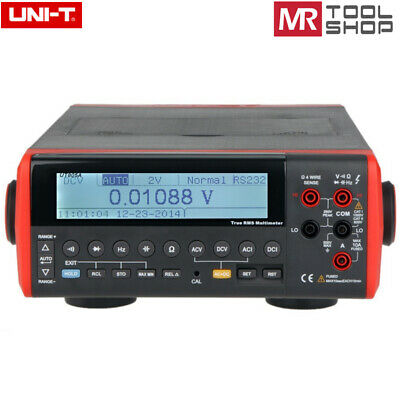 Uni-t Ut805a Bench Top Multimeter Auto T-rms Dmm 200000 Counts Data Hold Rs-232