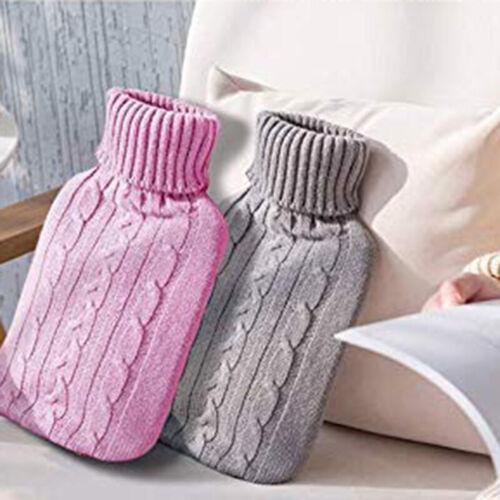 2000ml Hot Water Bottle Winter Warm Rubber Bag Knitting Rela