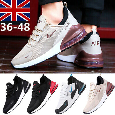Mens Air Cushion Trainers Outdoor Shoes Lace Up Sport Running Breath Sneakers UK