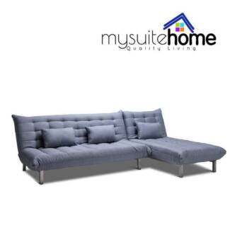 York Modular Chaise Fabric Futon Click Clack Sofa Bed