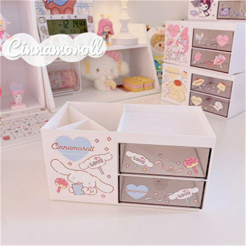 Cinnamorol Desk Jewelry Box Case Storage Organizer Stationery Box Pen Holder