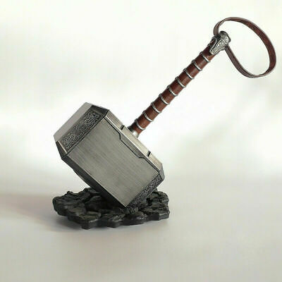 The Avengers Thor Hammer 1:1 Scale Mjolnir Replica With Stand Base Props Cosplay