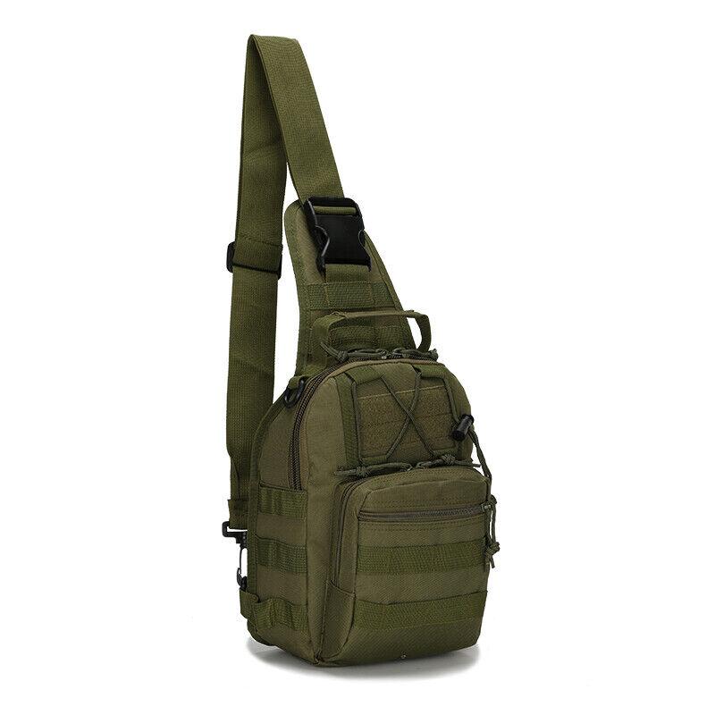 Men Backpack Molle Tactical Sling Chest Pack Shoulder Bag Outdoor Hiking Travel 11