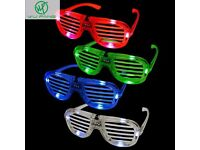 Wholesale-Resellers-24 X Flashing LED Blue Red Green Glasses Night Club Party