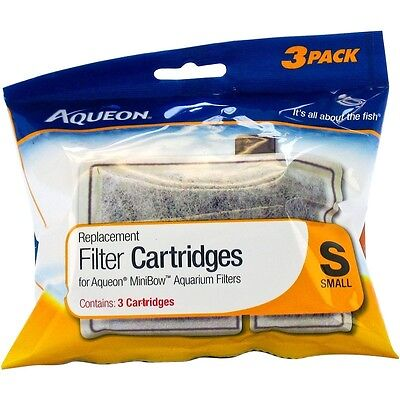 New Aqueon Replacement Filter Cartridge Small, 3 Pack pk for Mini Bowl