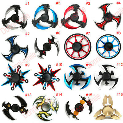 Metal Fidget Spinner Toy Finger Hand Dark Narutos Ninja EDC Tri Desk Kids/Adult