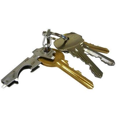 8 in 1 Utility Key Tool Schlüsselbund Multitool Edelstahl Keychain Tool