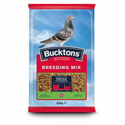 Bucktons Pigeon Breeding & Racing Mix -  High Protein Bird Seed Food - 20kg