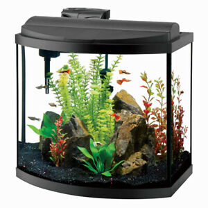 30 gallon bow front Aquarium. Everything included!!