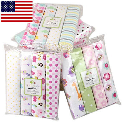 Cotton Baby Blanket Newborn Swaddles Bed Sheet Kit Baby Crib Bedding Set 4PCs