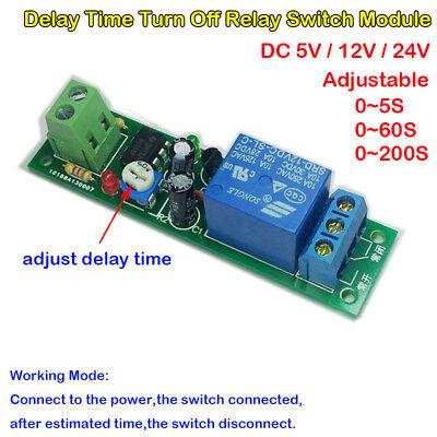 Adjustable Delay Time Turn Off On Relay Switch Dc 5v 12v 24v Ne555 Timer Module