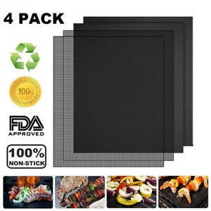 BBQ Grill Mat Set of 4 (Each Sheet Size 15.8 x 13 Inch)