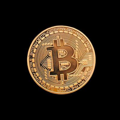 Gold Rare Collectible In Stock New Golden Iron Bitcoin Commemorative Coin Gift