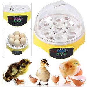 Digital Automatic 7 Eggs Incubator Chicken Duck Goose Poultry Hatch Hatcher UK