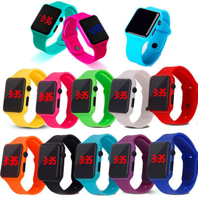 Fashion Electronic Digital Waterproof LED Display Watch For Boy Girl Kids Gifts