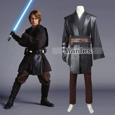 Star Wars 3 Revenge of the Sith Jedi Knight Anakin Skywalker Cosplay Costume
