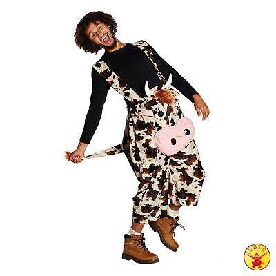Kuh Unisex Kühe Cow Farmer Latzhose Jungesellenabschied (Jungen Kuh Kostüm)
