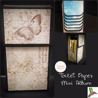 Learn to upcycle toilet paper rolls into mini photo albums