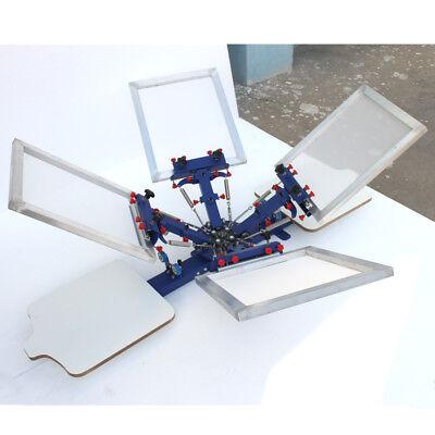 4 Color 2 Station Screen Printing Machine Table Press Printer Screen Equipment
