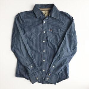 Hollister Blue Stripped Men's Shirt Size Medium