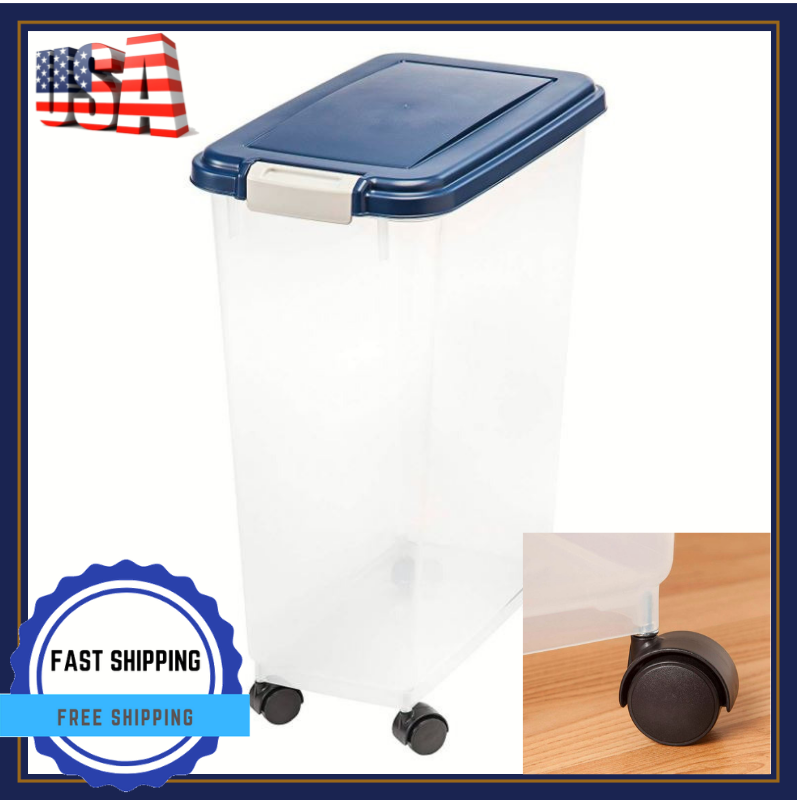 Best Pet Storage Container Bin For Food Dog With Lid And Whe