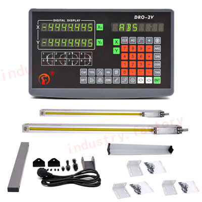 Precision Linear Scale 2 Axis Digtial Readout Display Dro Kit 5m Milling Lathe