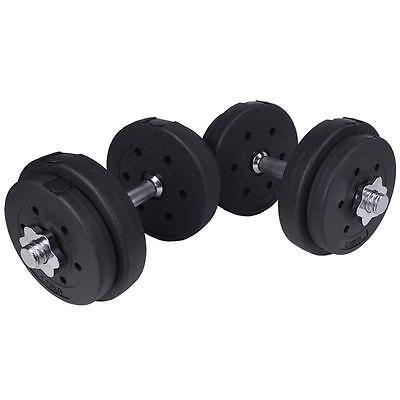 Hantel-Set 20 kg Hanteln Kurzhanteln Gewichte Hantelscheiben Kunststoff Fitness