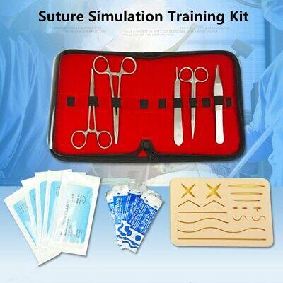 Surgical Training Operate Suture Practice Pad Needle Scissors Teaching Equipment