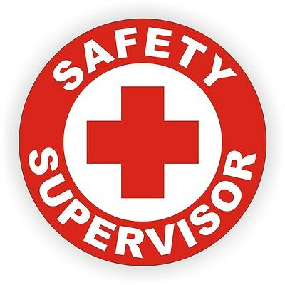 Safety Supervisor Hard Hat Decal - Label - Sticker Work Safely Manager Officer for sale  Shipping to India