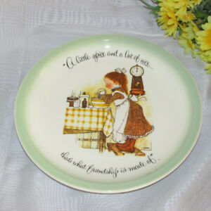 """Vintage Holly Hobbie 10"""" Collector Plate 1972 Friendship Friends"""