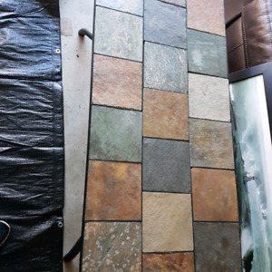 Stone tile coffee table