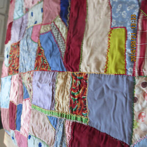 "Hand made Quilt 1930s  52"" Wx82"" L Pristine Condition $200"