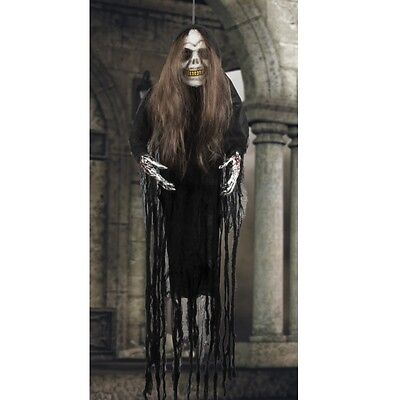 XXL Zombie Horror Frau ca.170cm Halloween Hängedeko Raumdeko Hexe #2070