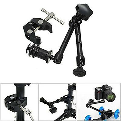 "11"" Inch Friction Articulating Magic Arm + Super Clamp for DSLR ED"
