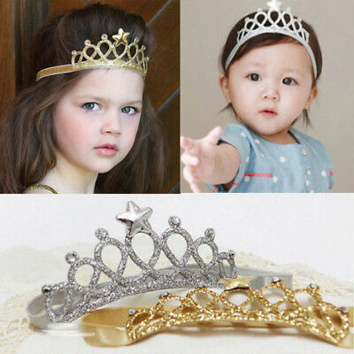US Hair Accessories Baby Girl Crown Hairband Toddler Headband Kid Tiara - Baby Tiara