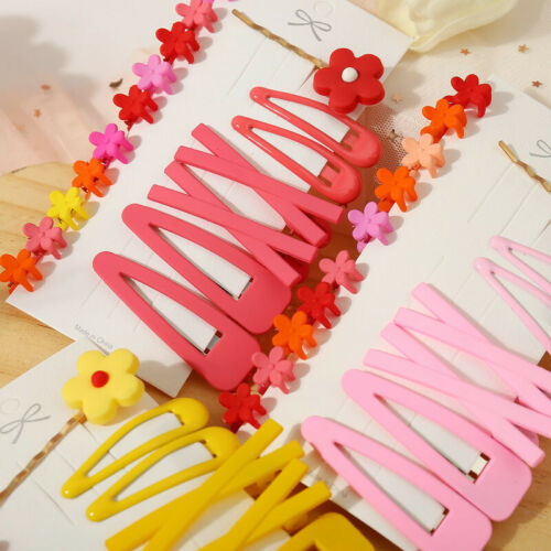 17Pcs//Pack Candy Color Hairpins Snap Hair Clip for Kids Girl Barrettes BB Clips