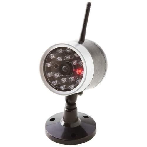 Camara Falsa De Seguridad Con Luz LED se activa al movimiento Facil De Instalar