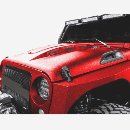 for 2007-2018 Jeep Wrangler Rubicon JK JKU heat extract Vented AVG Steel Hood