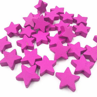 Rose rot Holzperle Sternform Baby Handwerk Schnuller Clip Schmuck machen