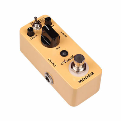 Mooer Acoustikar Acoustic Guitar Simulator Micro Guitar Effects Pedal New Acoustic Simulator Pedal