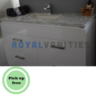 Marble Bathroom Vanity 1200 mm Freestanding