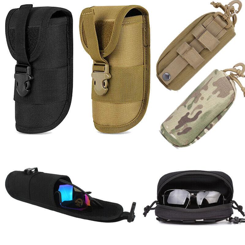 2 Style Molle Sunglasses Hard Case Tactical Eyeglasses Sturdy Carrying Case US Eyeglass Cases & Storage