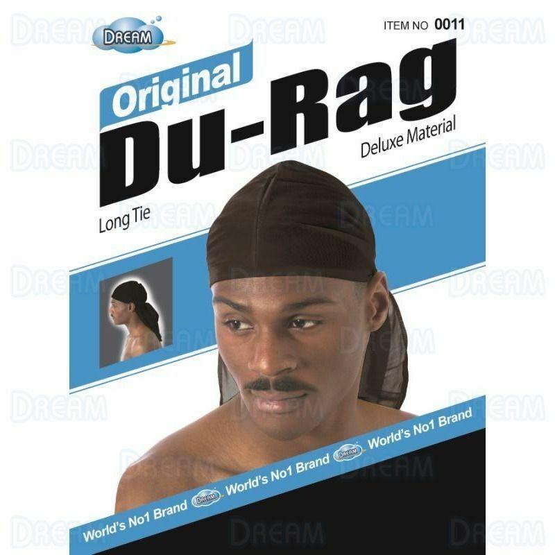 Dream Original Long Tie Du-Rag, Black