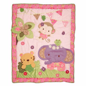 Kids line blossom tails crib bedding collection