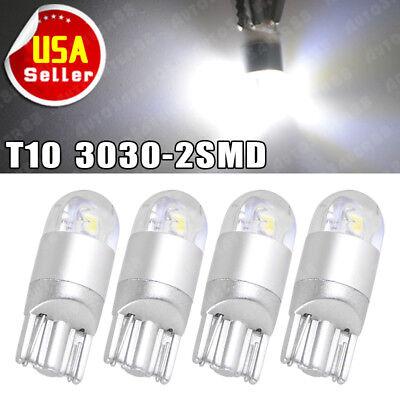 4x Super White T10 3030 2SMD LED High Power Interior Light Bulb W5W 194 168 2825