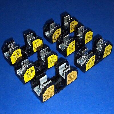 BUSSMANN 30A 250V SINGLE POLE FUSEHOLDER H25030-1S *LOT OF 6* *PZF*