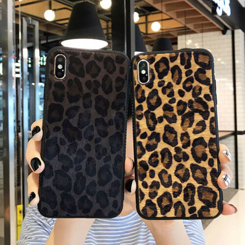 Luxury Leopard Bumper Shockproof Hard Case Cover For iPhone 8 7 Plus XS Max X XR